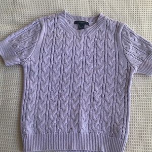 Forever 21 cable knit short sleeve sweater size S